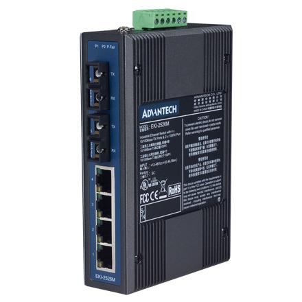 4-Port 10/100M+2 Fiber Unmanaged Ethernet Switch