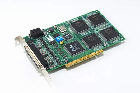 4-axis Quadrature Encoder and 4-ch Counter Universal PCI Card with 8-ch Isolated Digital I/O