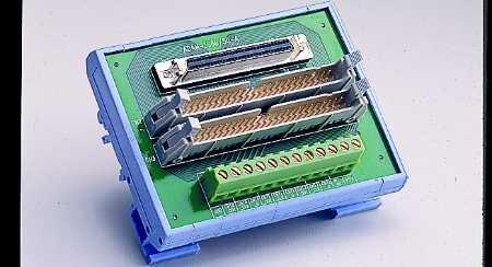 CIRCUIT MODULE, SCSI-68 to 2*IDC-50 Converter, DIN-rail Mount