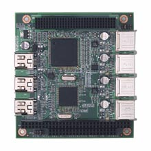 USB2.0 and IEEE1394 PC/104+ module, G