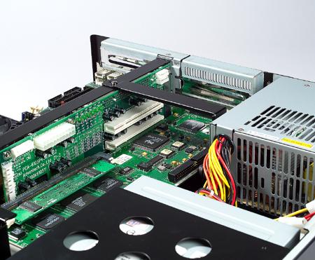 2Uサイズ 19インチラックマウントシャーシ, IPC-602(PICMG1.3),6スロット拡張対応,電源別売