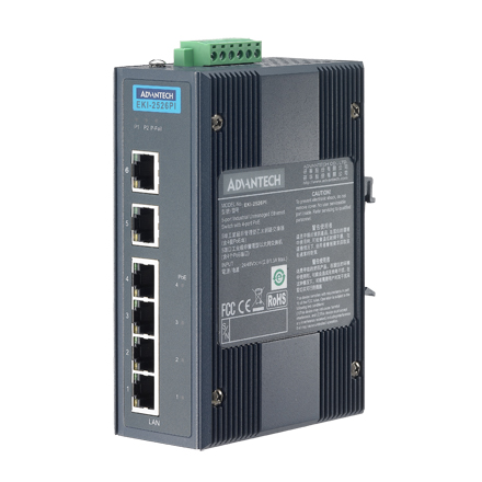 6-Port Industrial Switch with 4 Port PoE