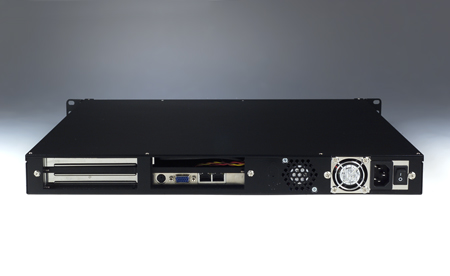 1U Rackmount Bare ATX Motherboard Chassis with 1 Slot Capacity, 3 HDD Bays