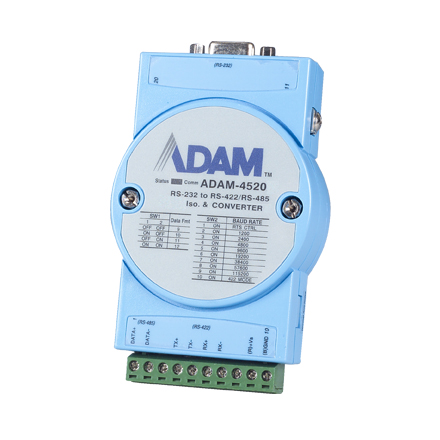 Adam-4561 1-port isolated usb to rs-232/422/485 converter.