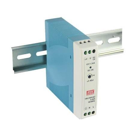 DIN Rail Power Supply AC to DC 100-240V 20W 24V