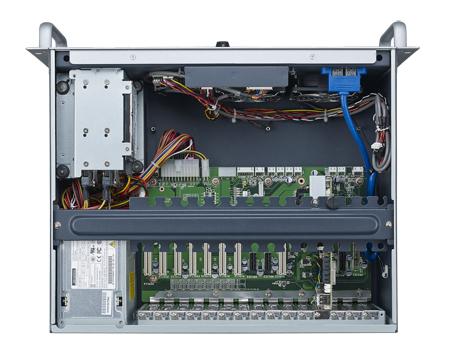 4Uサイズ 19インチラックマウントシャーシ、コンパクトタイプ ACP-4020BP, ハーフサイズバックプレーン対応,電源別売