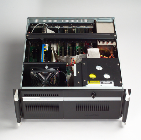 4U Short-Depth Rackmount Chassis for PICMG with 4 SAS/SATA HDD Trays- Backplane version