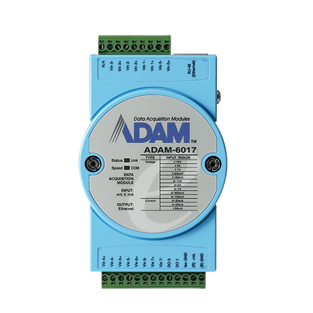 8-ch Isolated Analog Input Modbus TCP Module with 2-ch DO