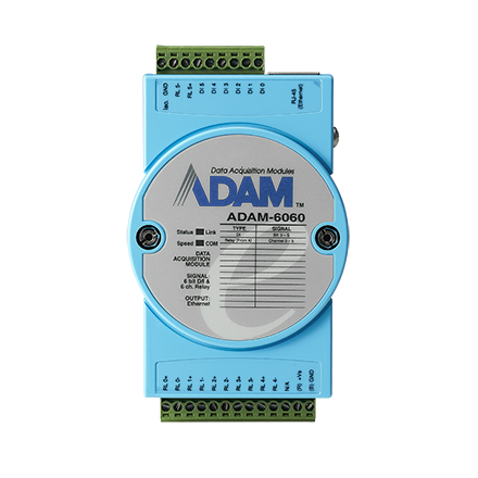Digital Relay Module with Modbus, 6 Channel