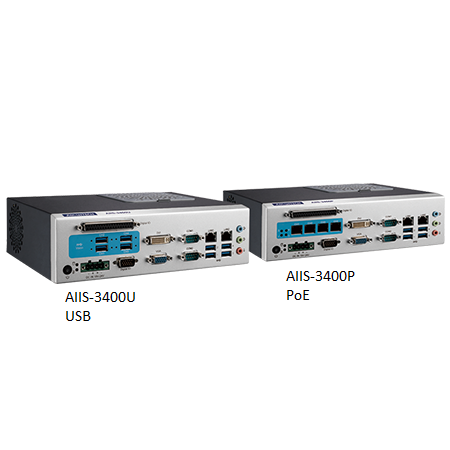 Intel 6th Gen Core i-Series 4-CH Machine Vision System with Camera Interface for GigE PoE or USB 3.0