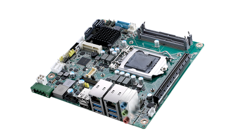 Mini-ITX Embedded Motherboard Supporting Intel<sup>®</sup> Core™ i7/i5/i3, VGA/DP++/HDMI, 2 COM, 1 GbE, 1 M.2