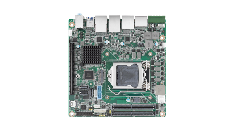 Intel Coffee Lake Mini-ITX Motherboard featuring 8th generation CPU and Dual DP / HDMI / PCIe x 16 / 2GbE, RoHS,  12V ATX Power Connector and Intel Q370 chipset