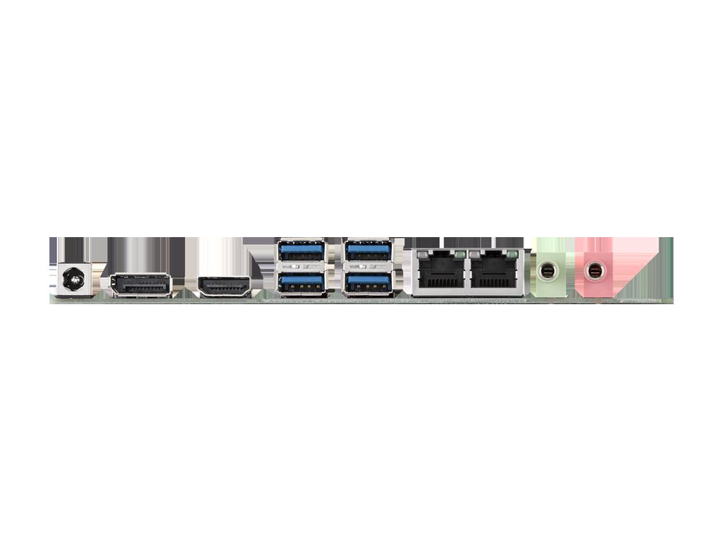 Mini-ITX Motherboard with Intel<sup>®</sup> Core™ i7/i5/i3 LGA 1151, DP/VGA/HDMI/LVDS, dual GbE, 4 x USB 3.0, 4 x USB 2.0,  1 x F/S Mini PCIe, 1 x H/S MiniPCIe
