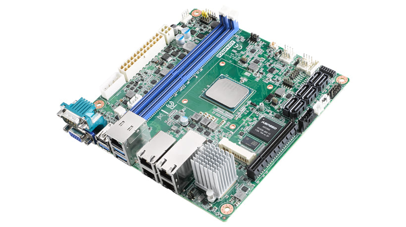 Industrial Mini-ITX Motherboard with Intel ® Atom C3758, IPMI, VGA, 2 x GbE, 2 x 10GbE