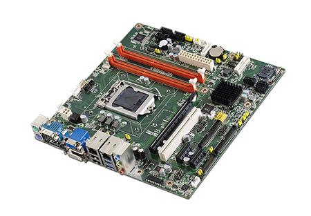 Micro ATX Motherboard with Intel<sup>&#174;</sup> Core™ i7/i5/i3, VGA/DVI, 10 x COM, 9 xU SB, dual LAN
