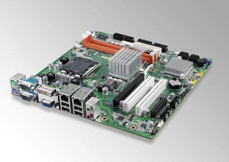"""<p><strong><font color=""""red"""">EOL</font></strong></p> LGA 775 Core™ 2 Duo MicroATX with Dual VGA, 10 COM, and LAN"""