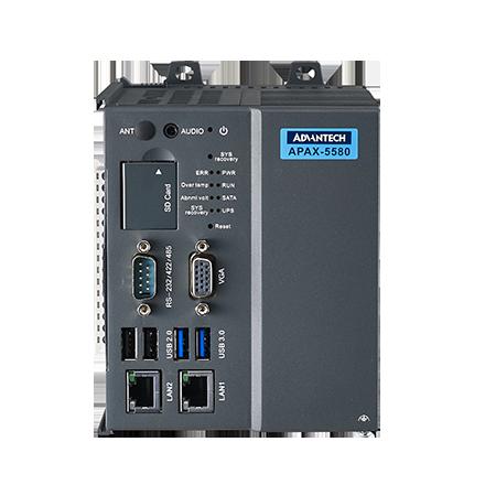 APAX-5580 - Intel® Core™ i7/i3/Celeron DIN-Rail IPC w/ 2 x GbE, 2 x
