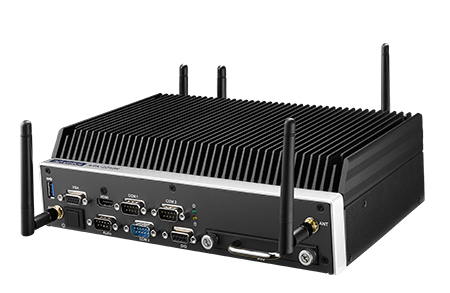 Fanless Embedded Rail-certified PC with i7-6822EQ QC/ Intel i5-6442EQ 2.0G, 2HDMI