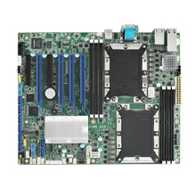 Dual LGA 3647-P0 Intel<sup>®</sup> Xeon<sup>®</sup> Scalable ATX Server Board with 6 DDR4, 4 PCIe x16 + 2 PCIe x8, 8 SATA3