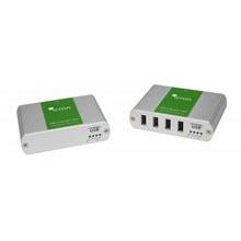 Ranger 2304: 4-port USB 3.0-2.0-1.1 Extender, 100m, Cat5e/6/7, 100-240V NATAM PS