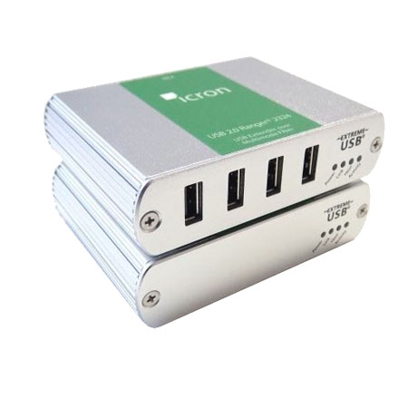 Ranger 2324: 4-port USB 2.0-1.1 Extender, 500m, MM Fiber, 100-240V NATAM PS