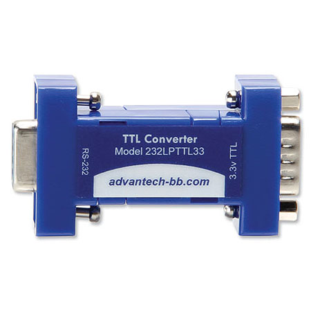 Serial Converter, RS-232 DB9 F / 3.3 V TTL DB9 M, Port Powered