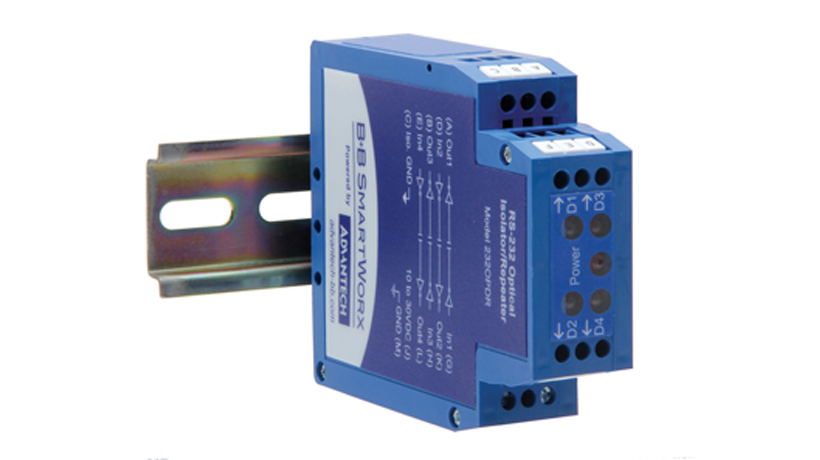 RS-232 Isolated extender, DIN Rail