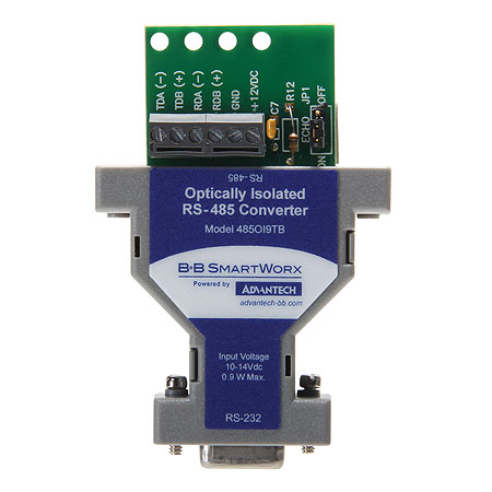 Isolated Serial Converter - RS-232 (DB9F) to RS-422/485 (TB)