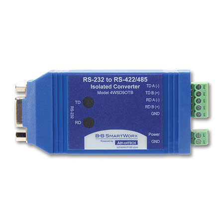 Isolated In-line Serial Converter – DB9F/Terminal Blocks