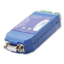 Serial Converter, RS-232 DB9 F to RS-422/485 TB, Isolated