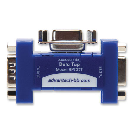 RS-232 Data Tap (DB9M and DB9F straight-through, DB9F monitor ports)