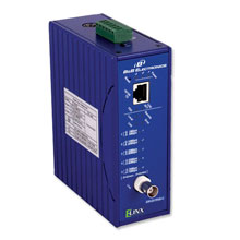 ETHERNET COAXIAL EXTENDER, 10/100, DIN RAIL