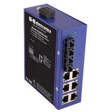 ETN UNMANAGED SWITCH 6 COPPER, 2 MULTI-MODE SC