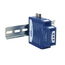 Serial to Fiber Optic Converter - serial TB, multimode ST, fiber light Off (idle)