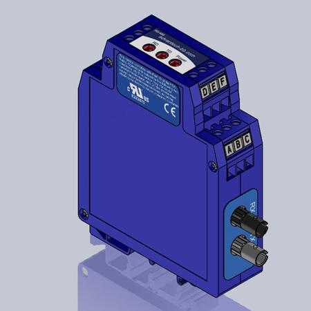Serial Converter, RS-232 TB to MM Fiber ST, Ind. DIN
