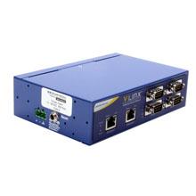 10/100 Industrial Modbus Gateway - 4 DB9 ports