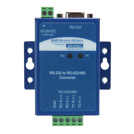 Industrial RS-232 to RS-422/485 Converter – isolated, wide temperature