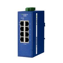 8-port 10/100Mbps Industrial Managed Ethernet Switch, -10~60C