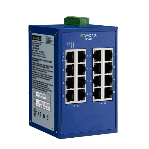 16-port 10/100Mbps