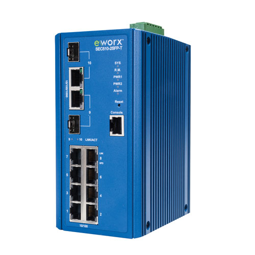 8FE+2GE combo managed switch
