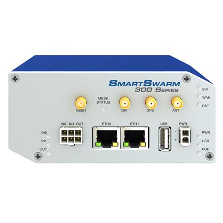 SmartSwarm 342 Gateway - 2 Ethernet, LTE-NAM, Dust  (no power supply)