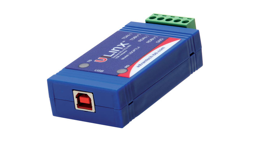 Isolated High Retention USB to RS-422/485 Converter (USB cable included)