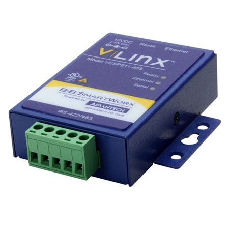 Ultra-Compact, 1-Port Ethernet Serial Server (RS-422/485)
