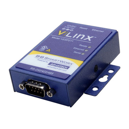 Ultra-Compact, 1-Port Ethernet Serial Server (RS-232/422/485)