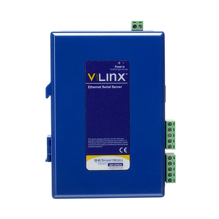 Compact Ethernet Serial Server - (2) Serial TB, (2) 10/100 Ethernet RJ45