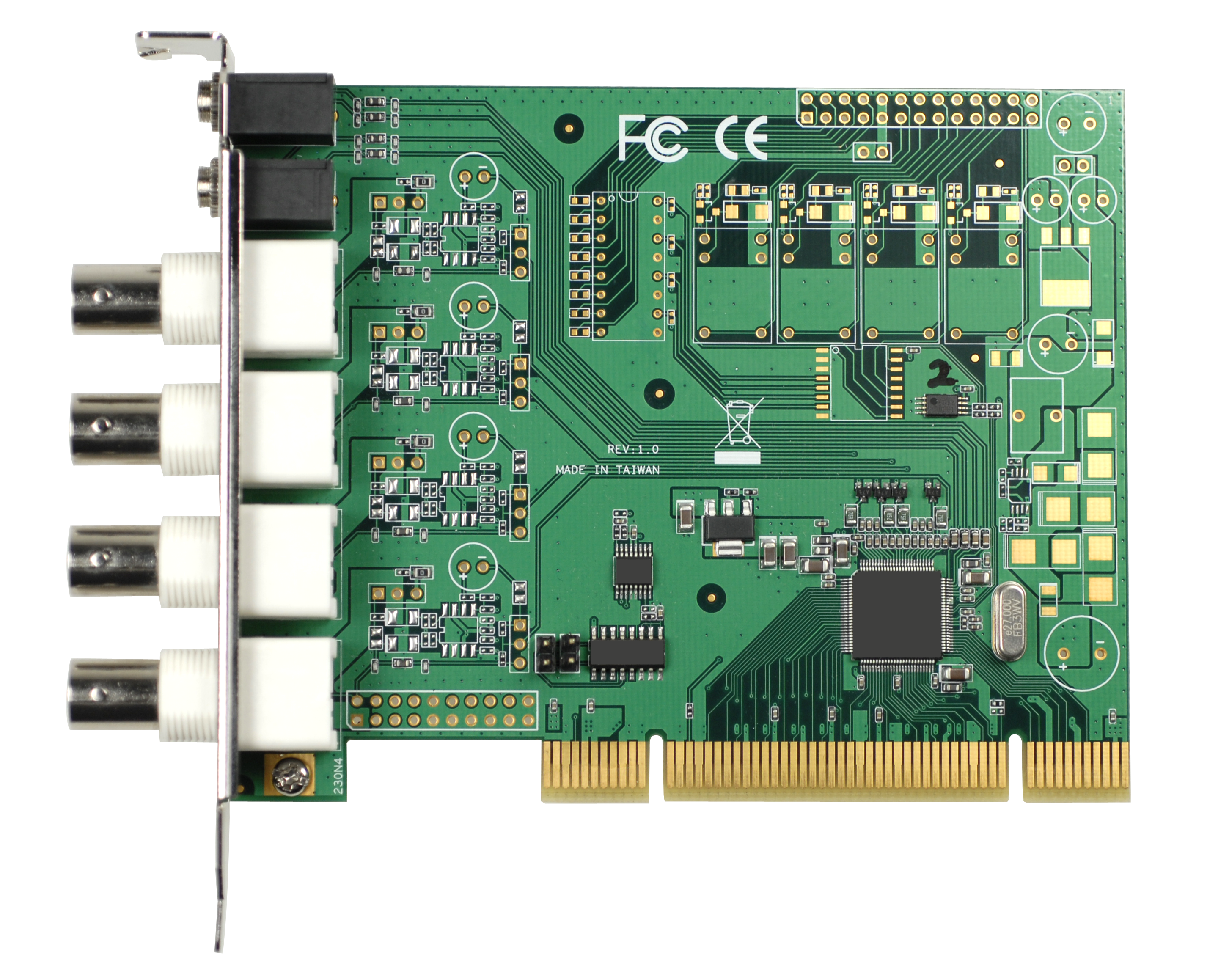 4-ch H.264/MPEG-4 PCI Video Capture Card with SDK