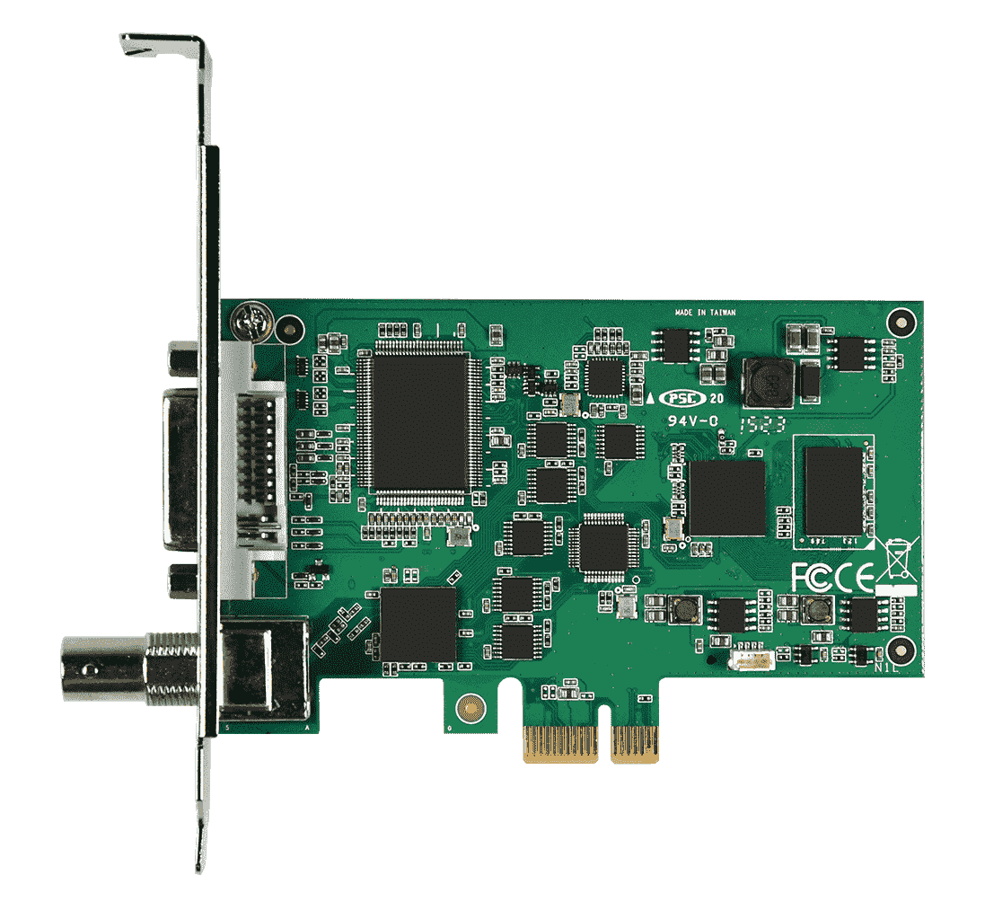 1 channel HDV/SDI/CVBS/YPrPr/S-video PCIe HW