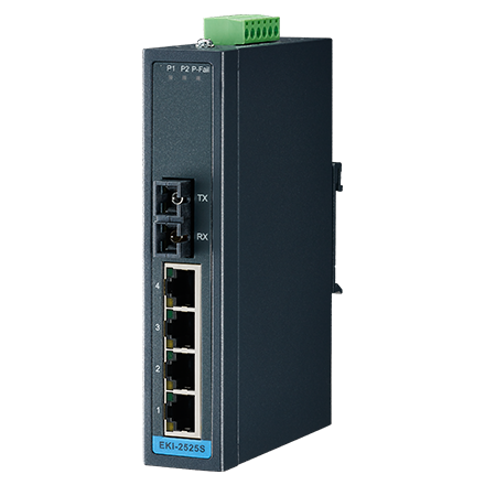 4-port 10/100M+1 Fiber unmanaged Ethernet switch