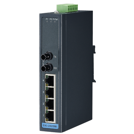 4 + 1FX ST Multi-Mode unmanaged Ethernet switch