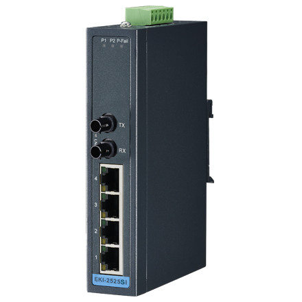 4 + 1FX ST Single-Mode unmanaged Ethernet switch